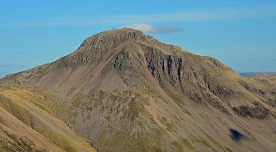 The summit Pyramid of Great Gable frow Yewbarrow - © Flickr user Doug Sim