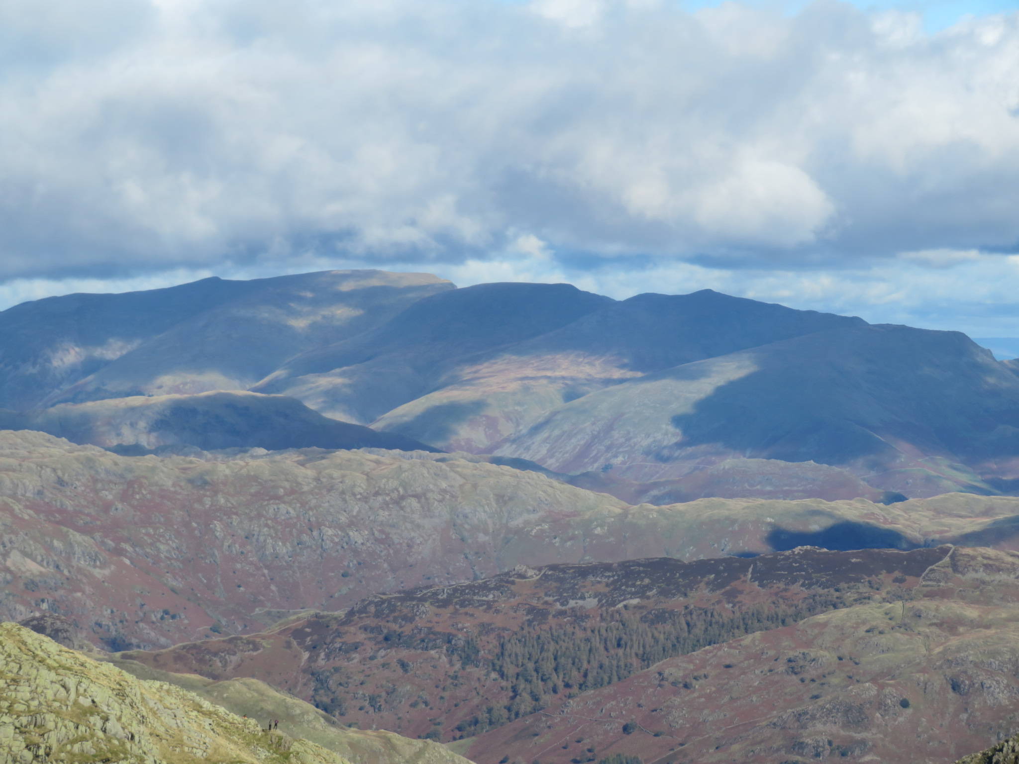 United Kingdom England Lake District, Swirl How and Great Carrs, Helvellyn from Great How Crags, Walkopedia