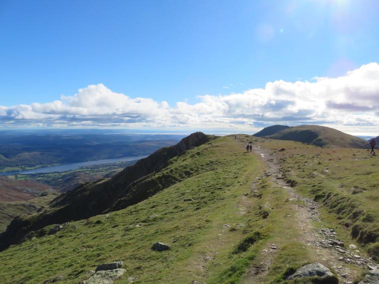 United Kingdom England Lake District, Cumbria Way and High Way, Flat high ridge near Swirl How, Walkopedia