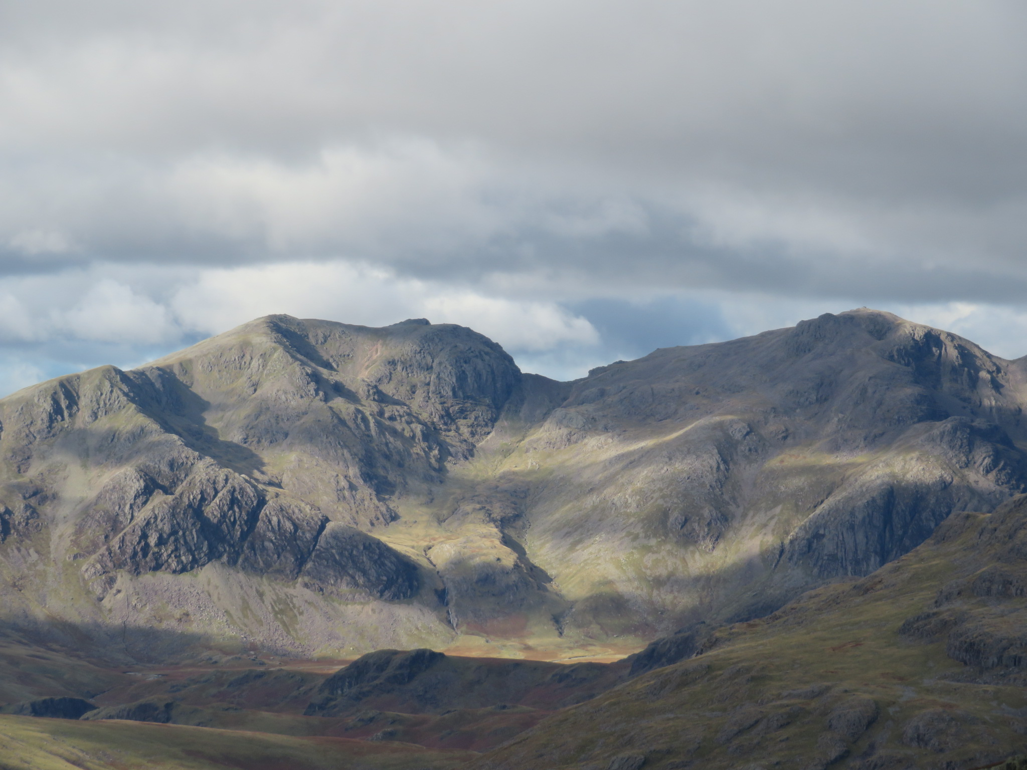 United Kingdom England Lake District, The Old Man of Coniston, Scafell group from Swirl how, Walkopedia