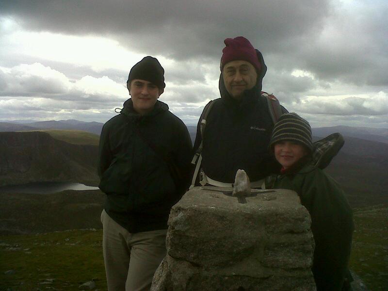 Stone on Lochnagar summit, Aberdeenshire, Scotland. - © Alexandra Mackesy