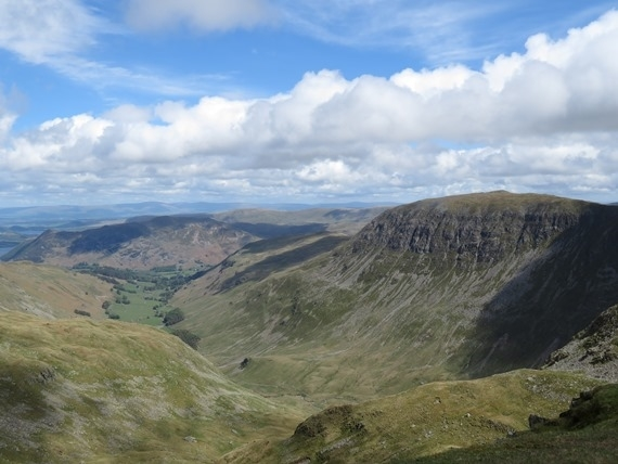Helvellyn and Striding Edge: Patterdale and St Sunday Crag from Helvellyn - © William Mackesy