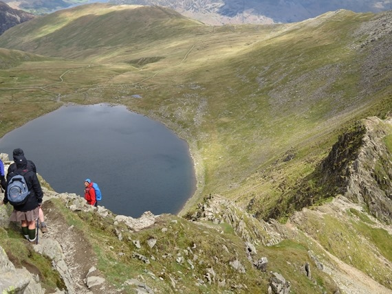 Helvellyn and Striding Edge: Descent to Striding Edge - © William Mackesy