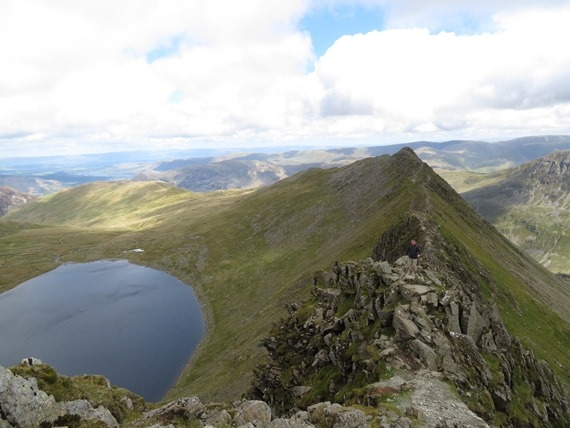 Helvellyn and Striding Edge: Striding Edge - © William Mackesy