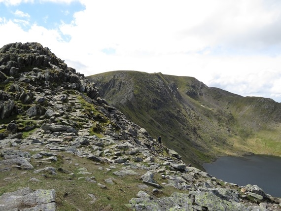 Helvellyn and Striding Edge: Helvellyn ridge from Striding Edge - © William Mackesy