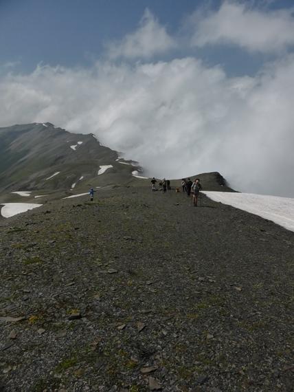 Ridge to Chaukhi Pass - © Nick Ince