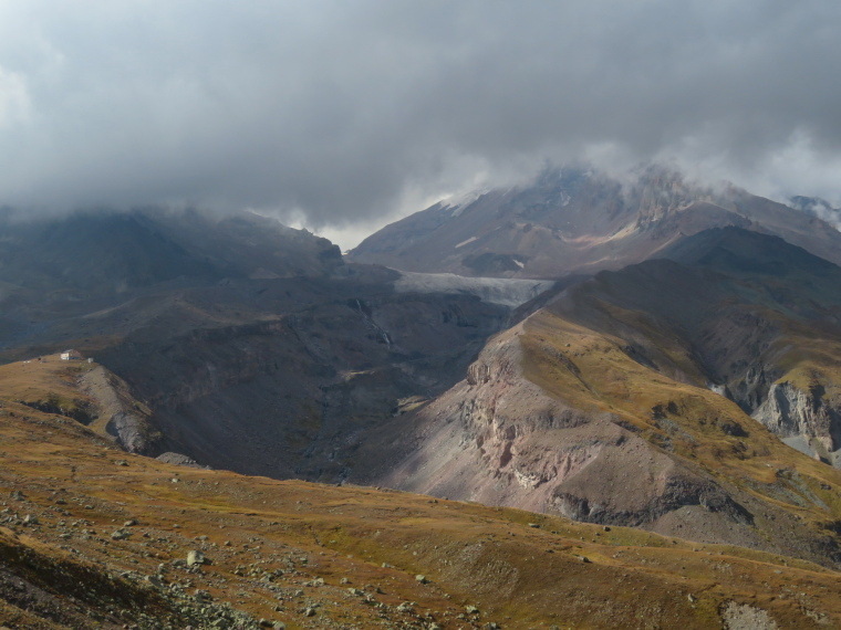 Greater Caucasus Mountains: Gergeti walk, changing light
