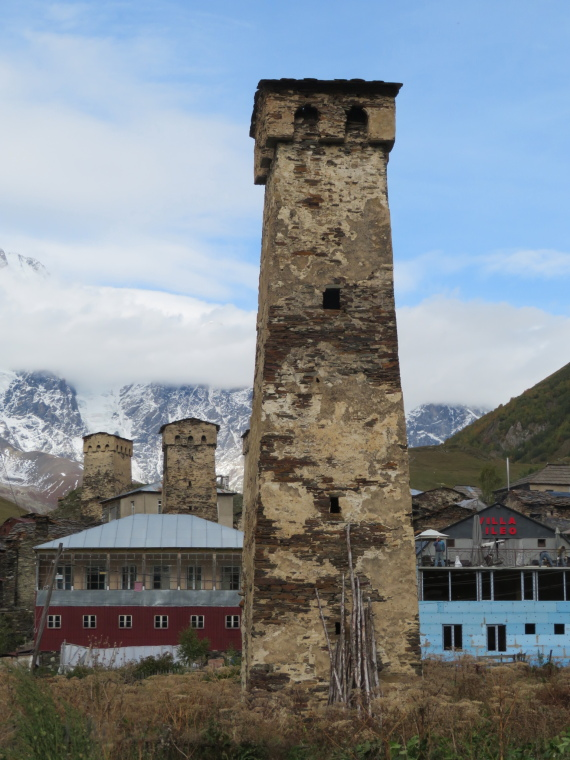 Greater Caucasus Mountains: Particularly slender tower, Ushguli