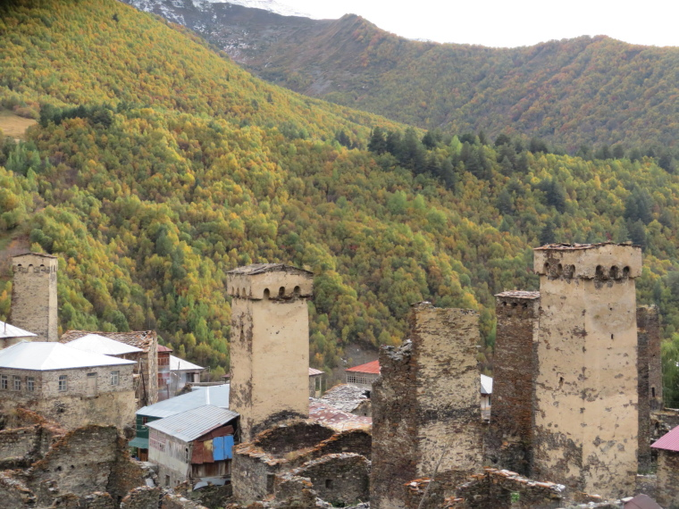 Greater Caucasus Mountains: Lower Ushguli hamlet