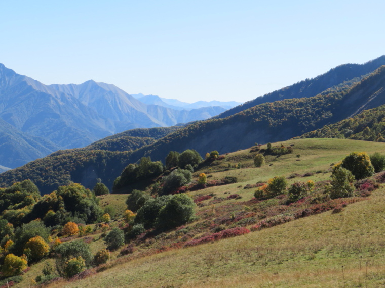 Greater Caucasus Mountains: South along main valley from Lomissa walk