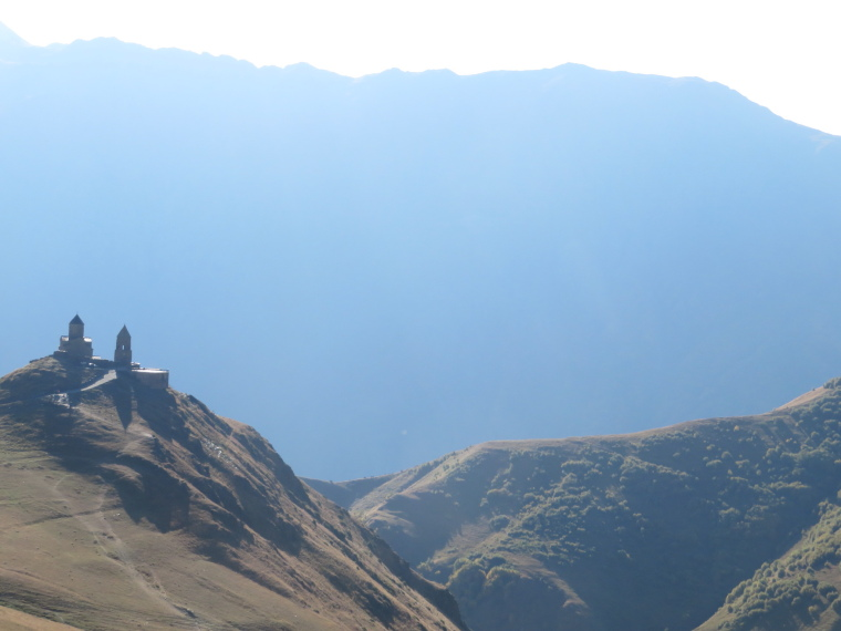 Greater Caucasus Mountains: Tsminda Sameba church, early light