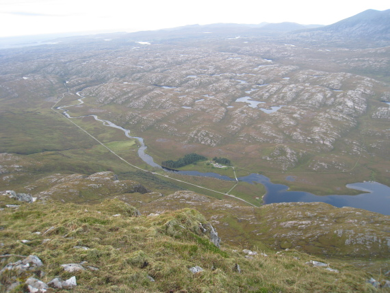 Ben Stack: Ground down landscape from the summit  - © Reggie Heyworth