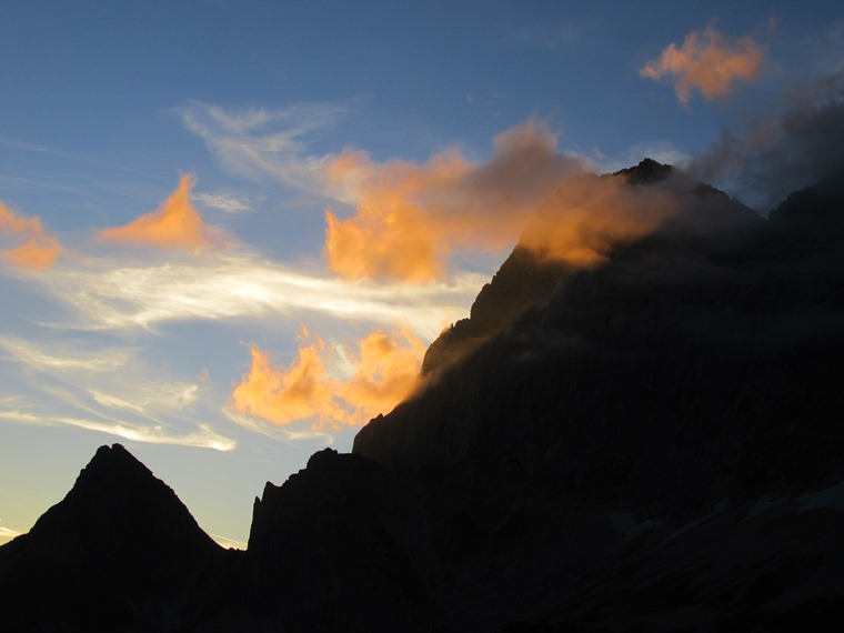 The Dachstein: Raucheck and Tor pass, sunset - © William Mackesy