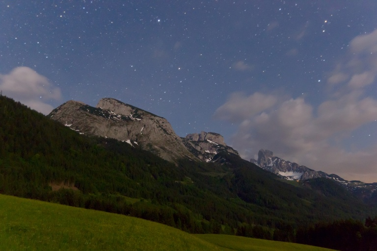 Austria The Dachstein, Gosaukamm Circuit, Moonrise in the Alpes, Walkopedia