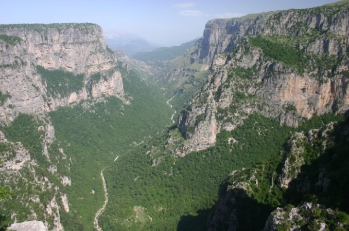 Down the Vikos Gorge - © William Mackesy