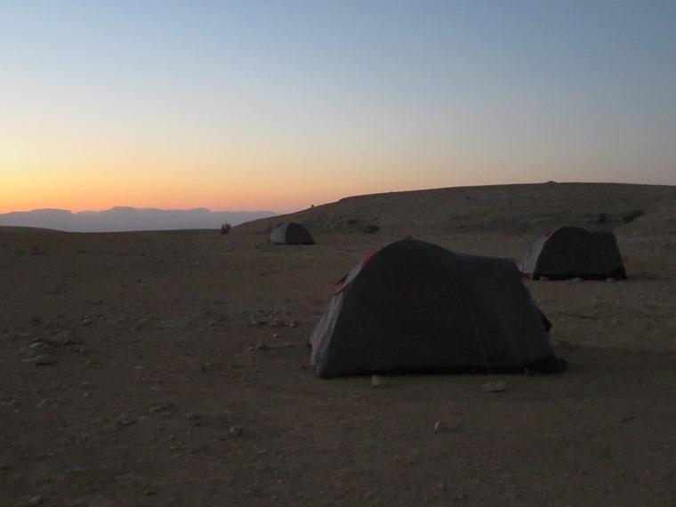 Across the Selma Pateau (E35): Campsite, high plateau - © William Mackesy