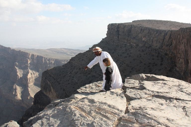 Jebel Shams: Peering into the abyss  - © flickr user- Bart