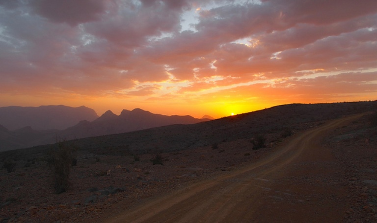 Jebel Shams sunset - © flickr user- Grant Eaton