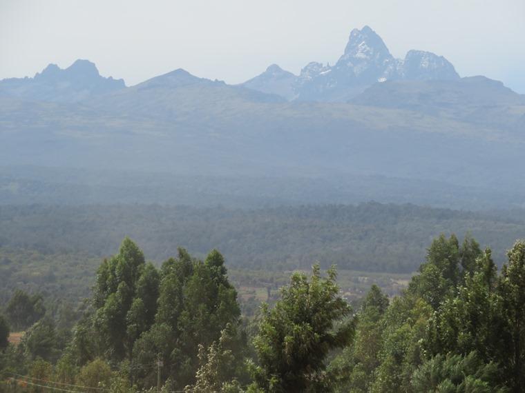 Mount Kenya: From near Nanyuki - © William Mackesy