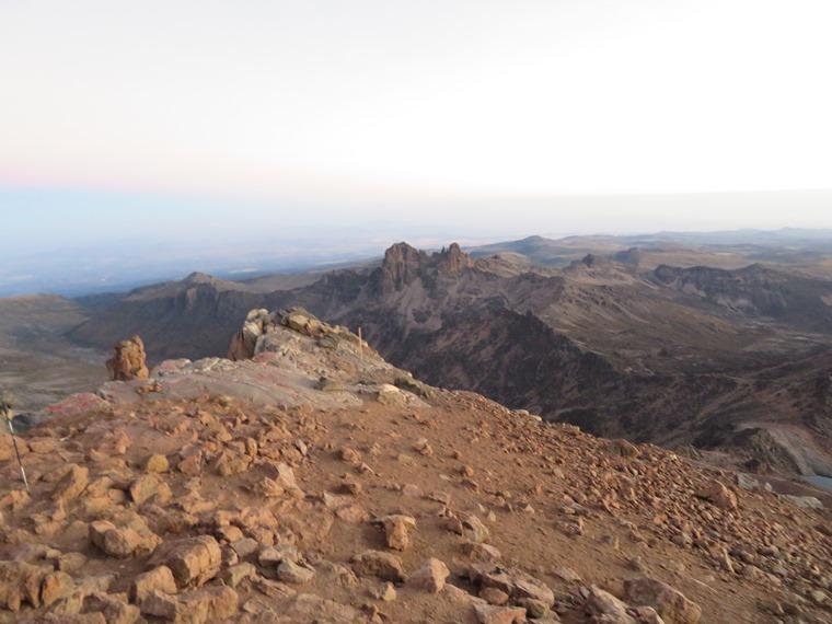 Mount Kenya: North from Lenana - © William Mackesy