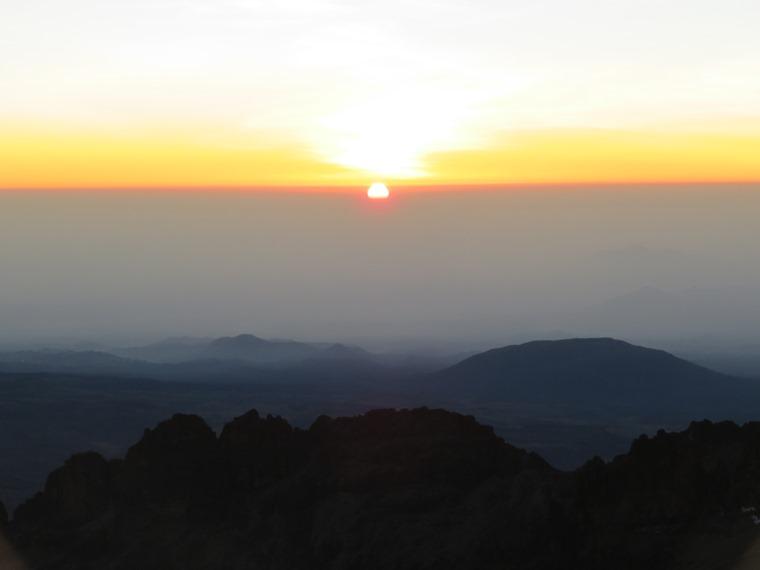 Mount Kenya: dawn from Lenana - © William Mackesy