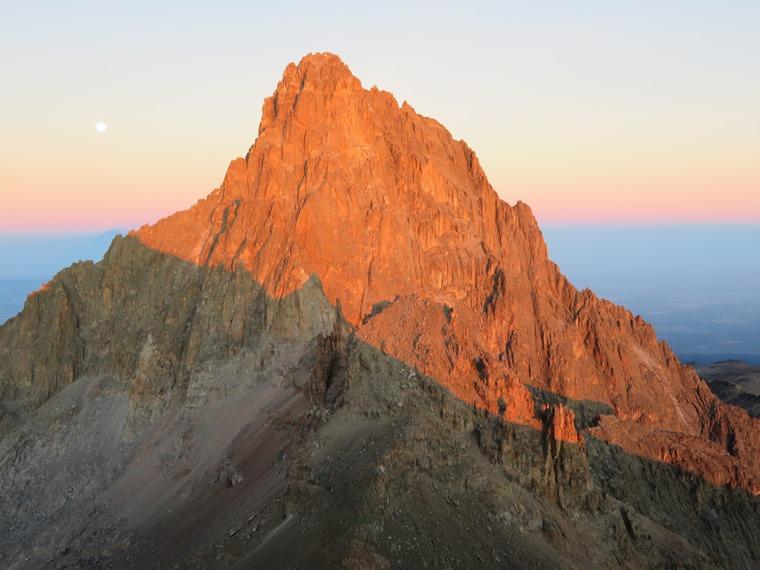 Mount Kenya: Sunrise on Nelion - © William Mackesy
