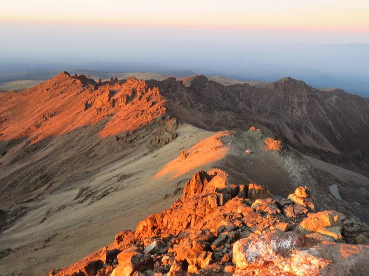 Mount Kenya: South from Lenana at dawn - © William Mackesy