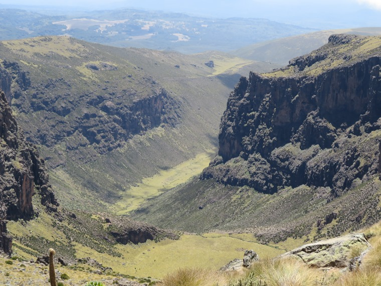 Chogoria, down Gorges valley, path ridge on left - © William Mackesy