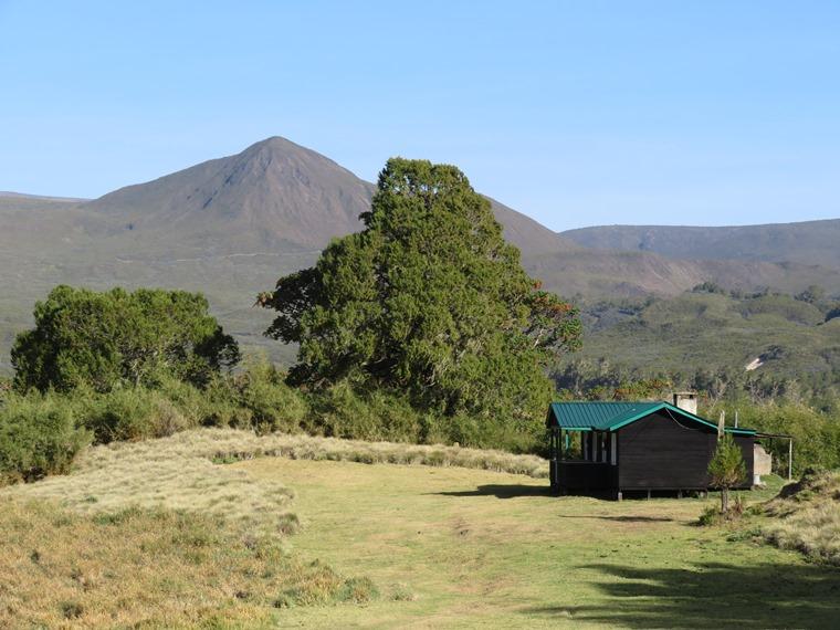 Mount Kenya: Mt K from Banda Huts - © William Mackesy