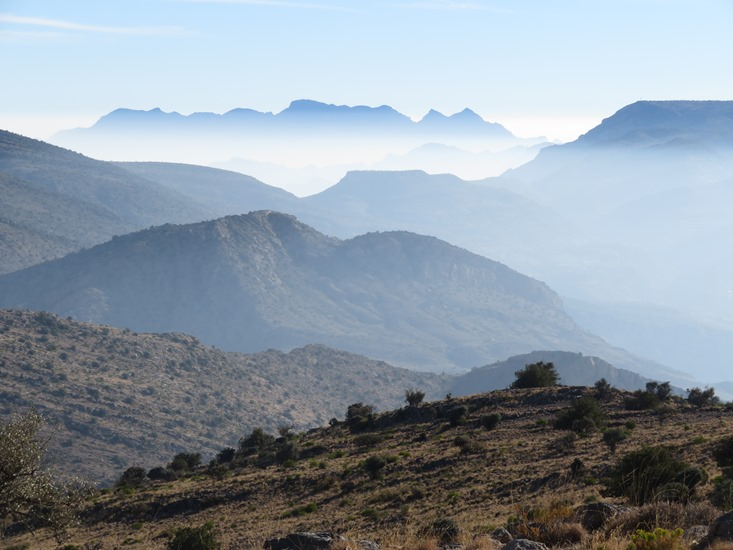 Jebel Akhdar, eastward from above Qiyut, early morning - © William Mackesy