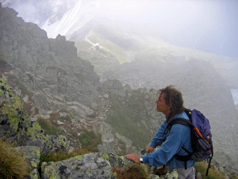 Schorsch still on top of the Innsbrucker hut. - © flickr user- Andreas