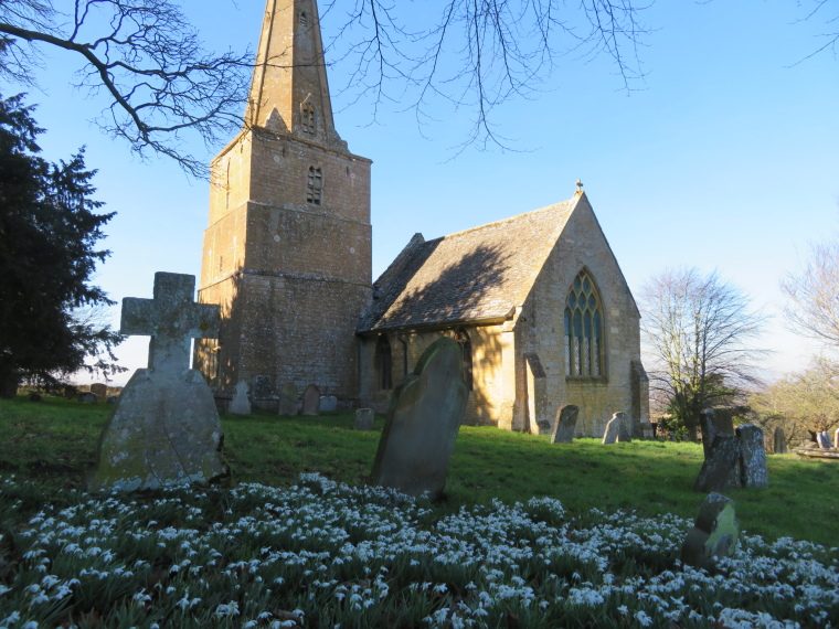 The Cotswolds: Cotswold Way, Saintbury church - © William Mackesy