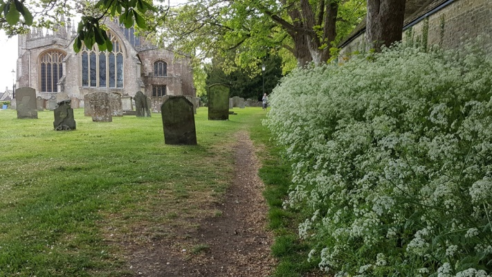 Diamond Way: Northleach church - © William Mackesy