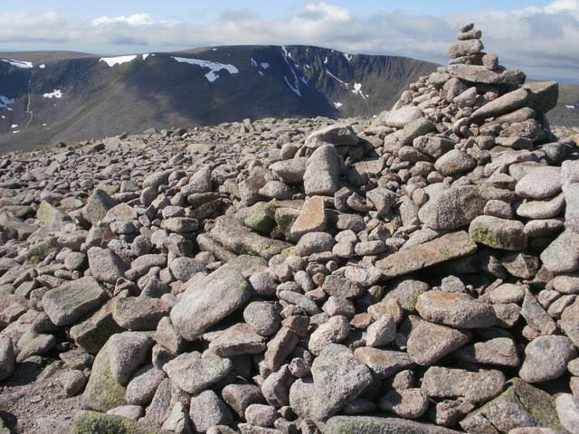 Cairn Toul Summit, veiw towards Braeriach  - © Peter