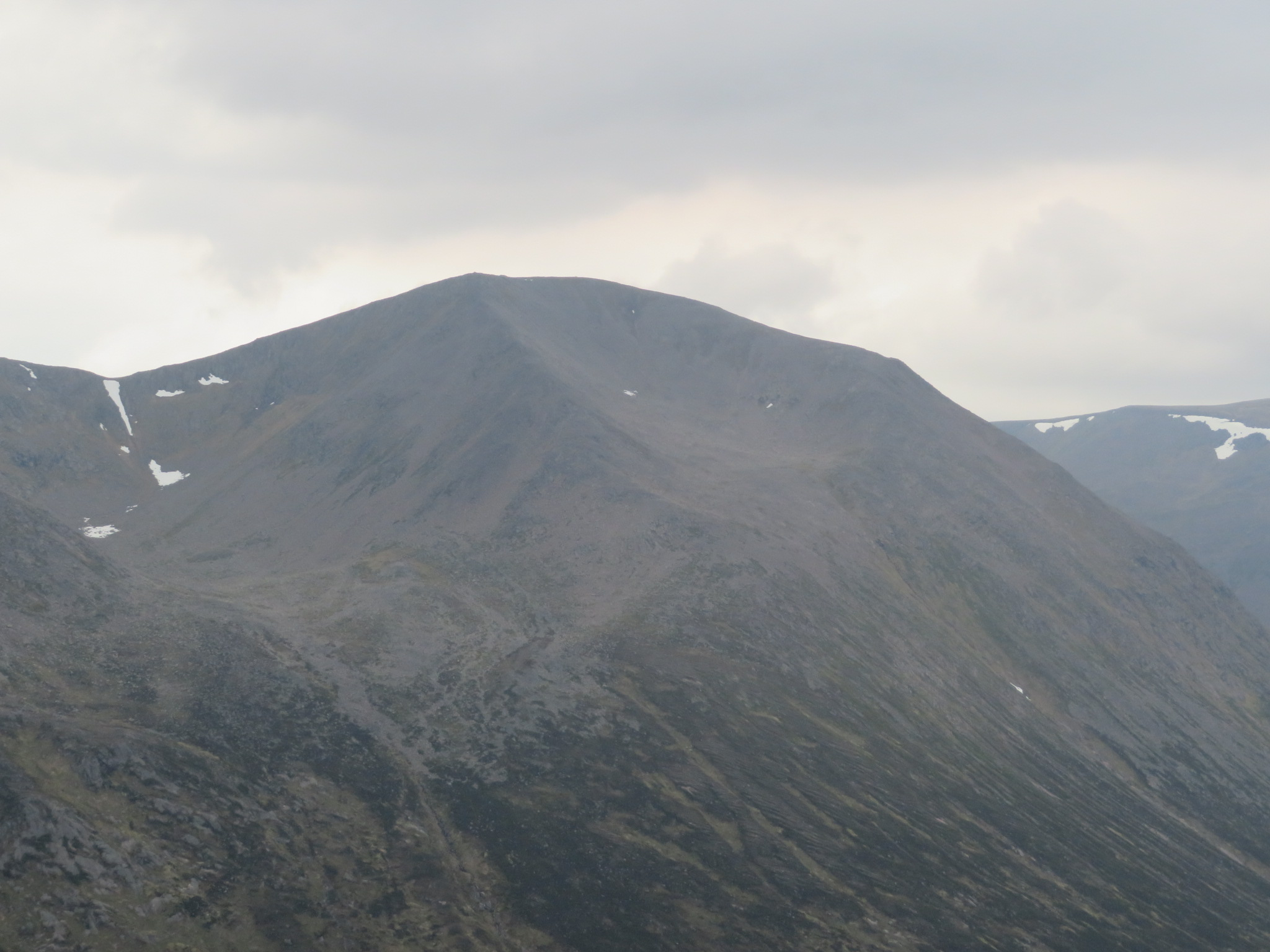 Cairn Toul and Braeriach : Cairn Toul from carn A Mhain - © William Mackesy