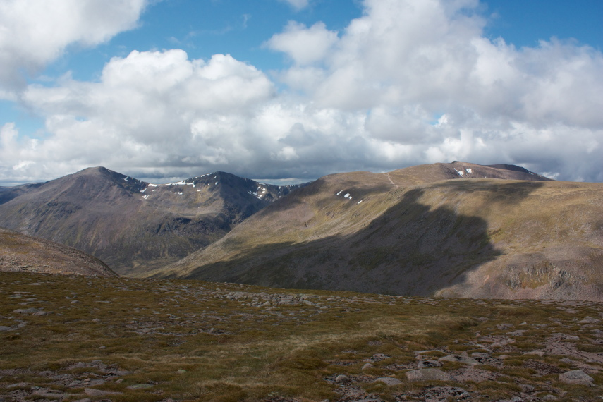 Cairn Toul and Braeriach across Lairig Ghru from Ben Macdui