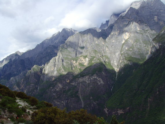 Tiger Leaping Gorge, light on mountain across gorge  - © Olivia Packe
