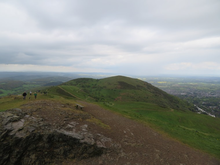 North across North Hill from Worcestershire Beacon, rain shower - © William Mackesy