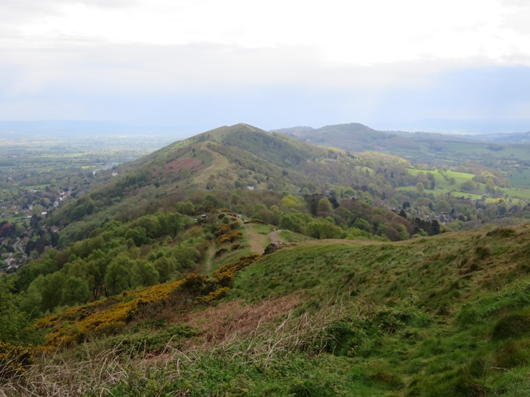 South from below Worcestershire Beacon, 1 May, pretty showery day - © William Mackesy
