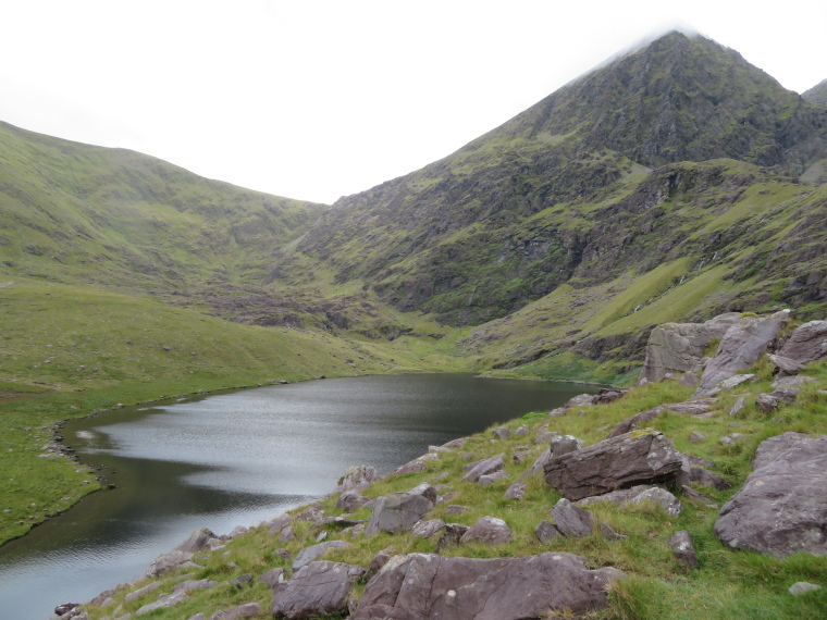 "Hag""s glen head, Carrauntoohil touched by cloud - © William Mackesy"