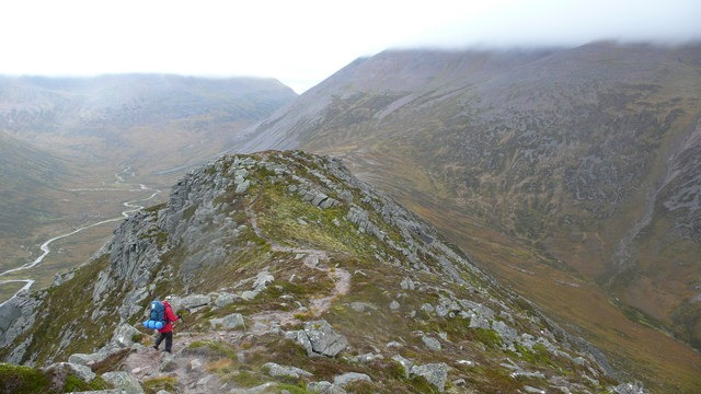 "Carn a"" Mhaim Easy walking on the usual path that one associates with the more popular hills.  - © Geograph user Calum McRoberts"