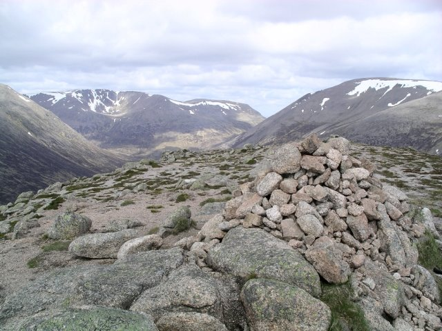 "Carn a""Mhaim - Looking North West, with Ben MacDui to the right, and Braeriach left of centre.  - © Geograph user Graham Ellis"