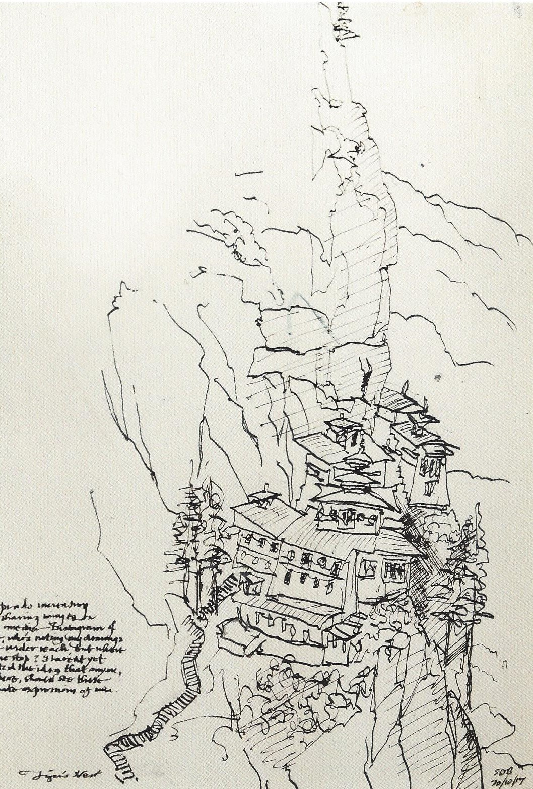 Tiger's Nest: Drawing by Stephen Barber