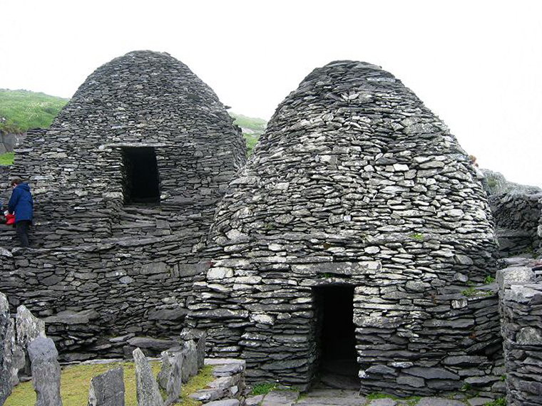Skellig Michael: Beehive Huts on Skellig Michael  - © geograph Rob Burke