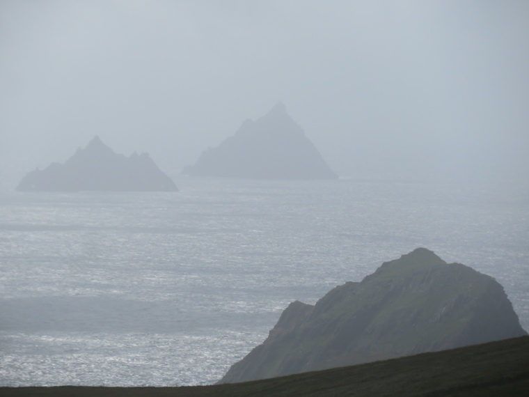 Skellig Michael: Skelligs from Valentia Island - © William Mackesy