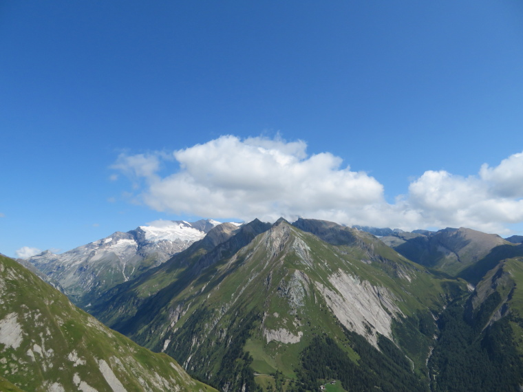 Grossglockner ALMOST out of cloud, from Panoramaweg - © William Mackesy