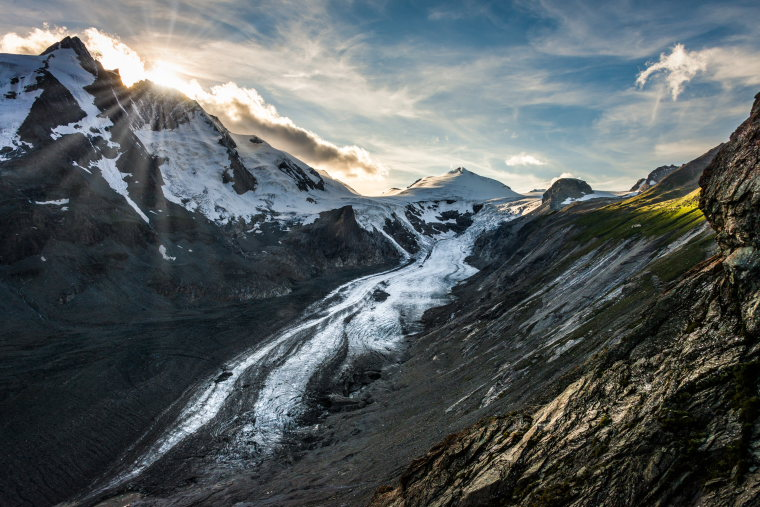 Hohe Tauern: A dying glacier (Pasterze)  - © wiki user Bernd Thaller