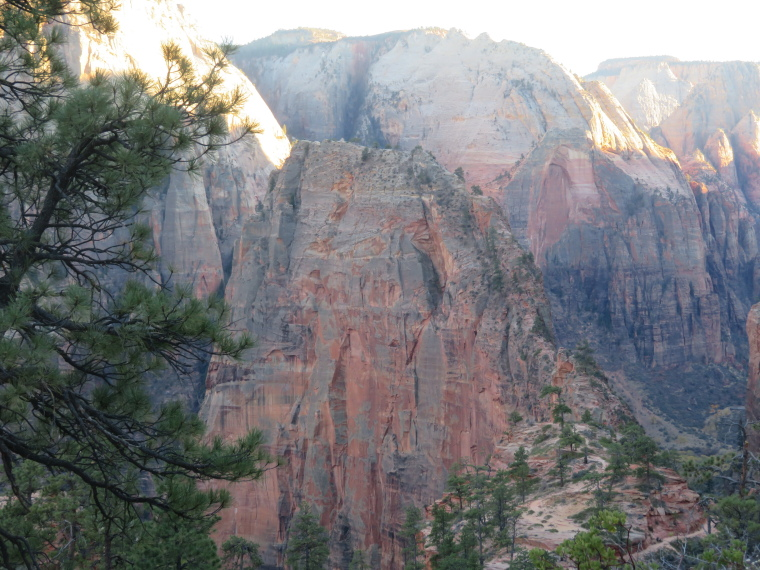 West Rim Trail:  First proper sight of Angel's landing from west Rim trail - © William Mackesy...