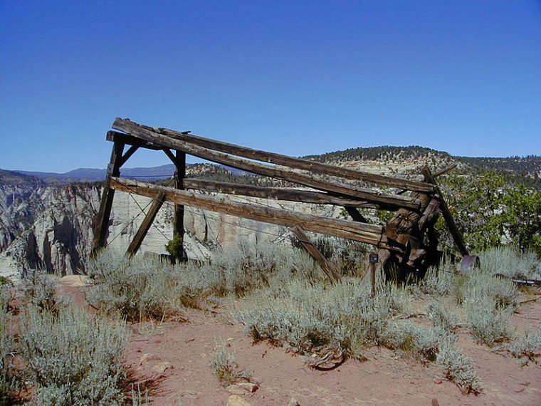 Cable Mountain Draw Works  - © wiki user National Park Service