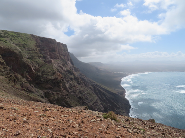 South along Risco de Famara cliffs - © William Mackesy